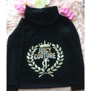 Juicy Couture Logo Velour Full Zip Jacket